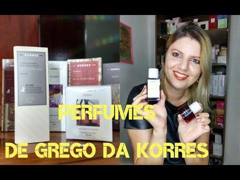 Experimentei quase todos os Perfumes da KORRES