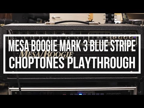 Mesa Boogie Mark III Blue Stripe   Playthrough