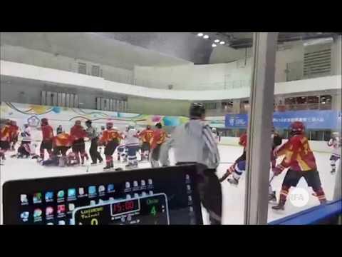 """U18冰球锦标赛 两岸""""大战""""台北上演"""