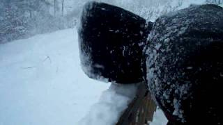 Cj and Dillon eating snow haha
