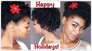 Holiday Updo Tutorial (Braid & Curl) Feat. Shea Moisture's Entire JBCO Line! - 4C Natural Hair