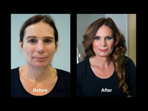 Transgender Transformation Male to Female M-F MAKEOVER Tutorial PRO Makeup Artist - CrossDressing