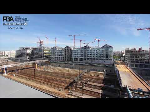Clichy-Batignolles : Time-lapse de réalisation du secteur ouest (phase 1)