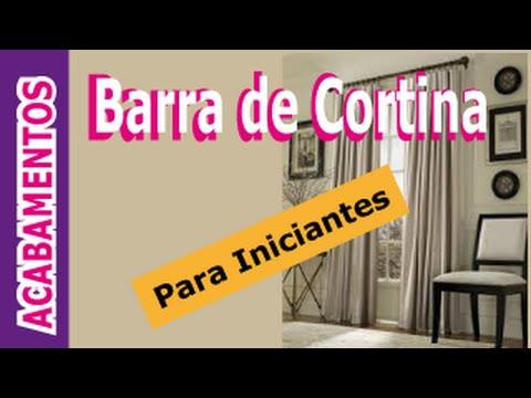 Costura artesanal barra da cortina youtube - Barra de madera para cortinas ...