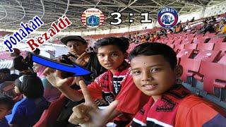 Vlog Stadium GBK bareng ponakan rezaldi Persija vs Arema Fc #barvlog