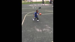 2 year old dribbles likes a pro!