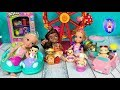Anna and Elsa Toddlers Baby Secrets Carnival! Rides - Fair - Games - Barbie - Chelsea - Series 2 Toy