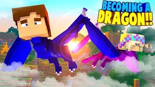 Minecraft DRAGONS || LITTLE DONNY BECOMES A DRAGON w/ LITTLE LEAH!! (Minecraft Roleplay)