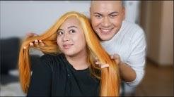 MEGA UMSTYLING Haare Blondieren von Schwarz auf Blond