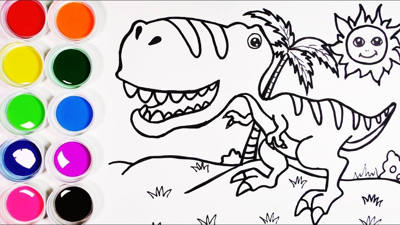 Cómo Dibujar y Colorear Un Dinosaurio de Arco Iris - Dibujos Para ...