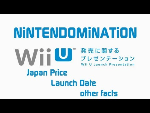 Nintendo Direct Japan - WiiU Price - Launch Date - All information - Full HD