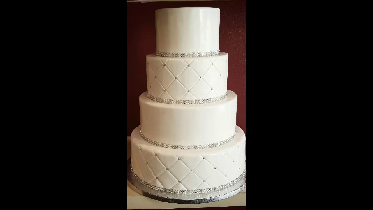Making A 4-tier Wedding Cake