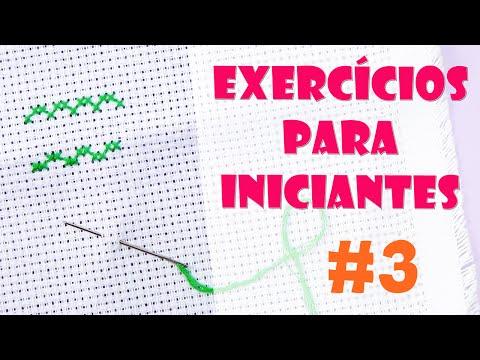 2 exercícios para INICIANTES #3 - Ponto Cruz avesso PERFEITO