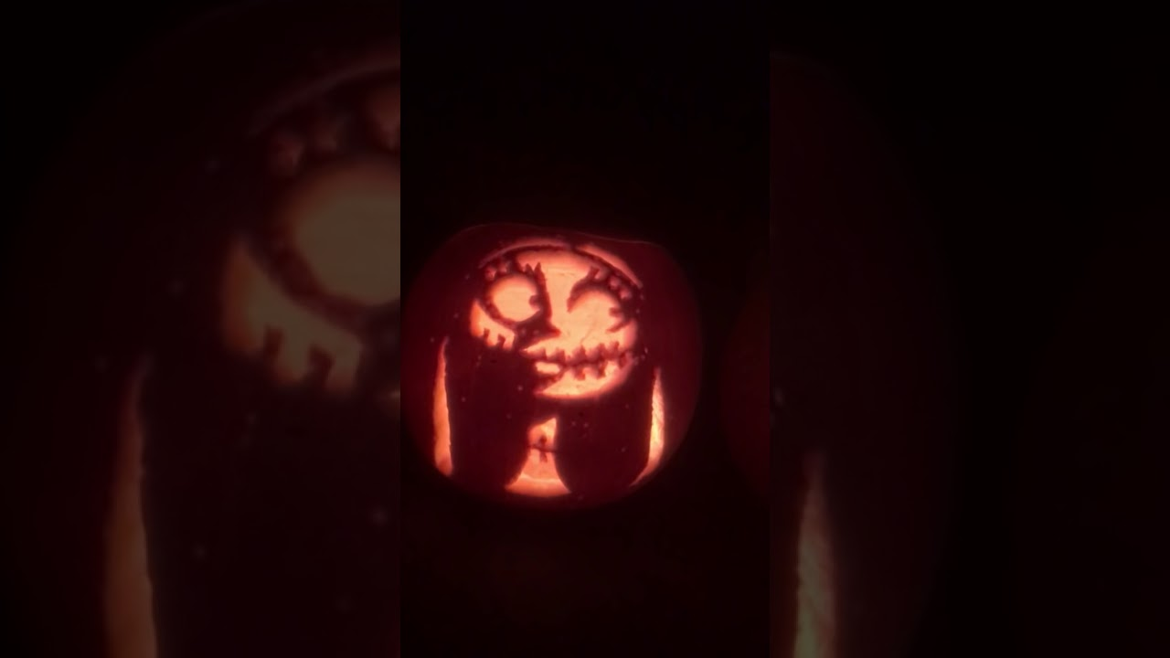 Pumpkin Carving Jack Sally and Zero The Nightmare Before Christmas ...