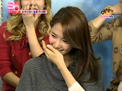 When SNSD Yuri and Yoona drunk