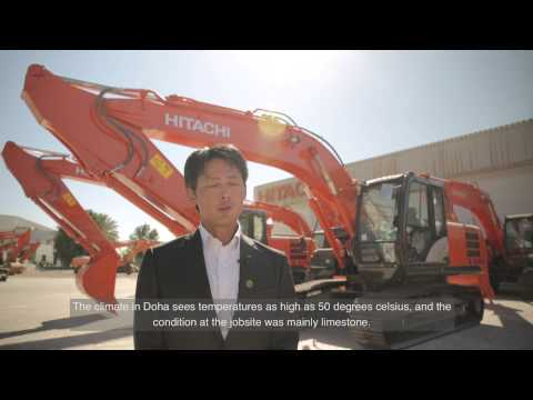 Hitachi EX1900-6 at the New Doha Port - Challenge (English)