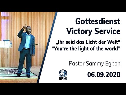 """RPMI-Gottesdienst vom 06.09.2020 - """"Ihr seid das Licht der Welt"""" Pastor Sammy Egboh"""