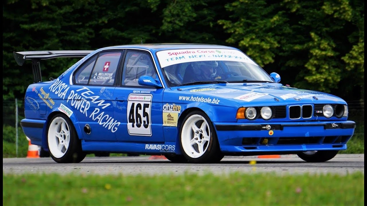 Bmw M5 E34 Race Car 334hp 1180kg Inline 6 Monster St Ursanne 2018 Youtube