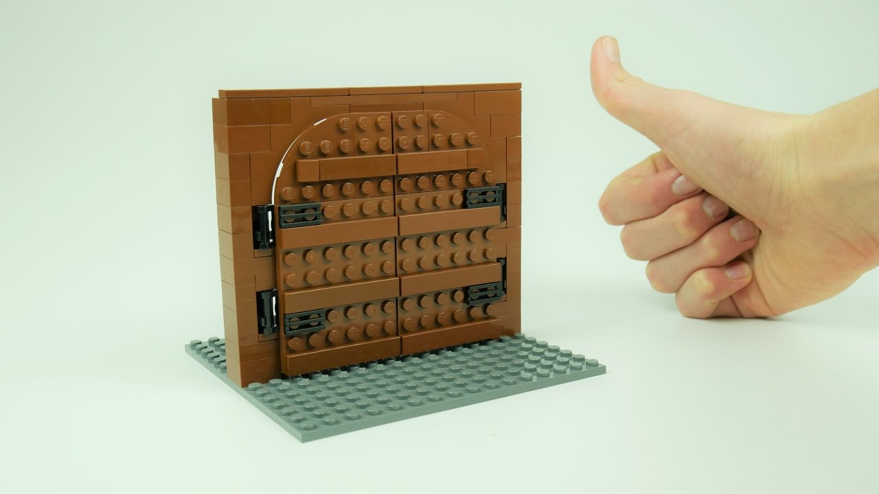 How To Build A Lego Fortress Gate Youtube
