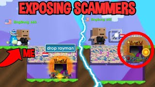 GOING UNDERCOVER EXPOSING SCAMMERS IN GROWTOPIA...