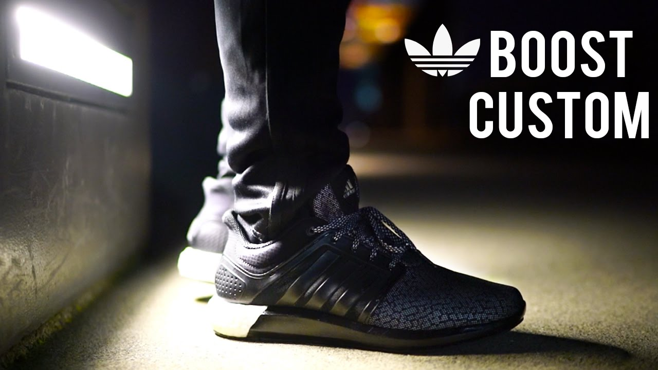 ede655e9942a Stealth Adidas Boost Customization! How To Paint and Customize Boosts  Tutorial! - YouTube