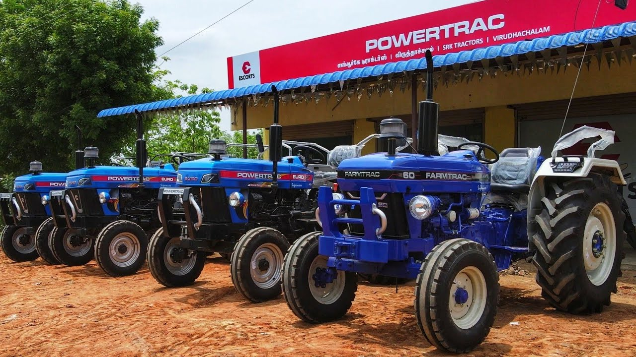 SRK tractor show room promo| Powertrac & farmtrac tractor | Escort Viruthachalam | come to village