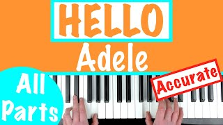 How to play 'HELLO' by Adele | Piano Chords Accompaniment Tutorial