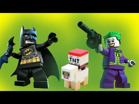 Бэтмен и Майнкрафт против Джокера и Энгри Бердс. Лего мультик на русском. Lego смотреть онлайн