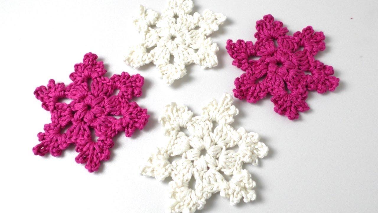 Einfache Schneeflocke Häkeln Eisblume Häkeln Weihnachtsschmuck