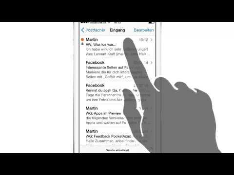 iPhone iPad Anleitung: E-Mails mit Wischgeste verwalten & markieren