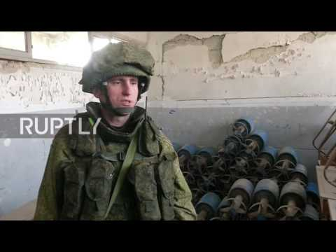 Syria: Russian sappers clear mines and IEDs from school in Aleppo