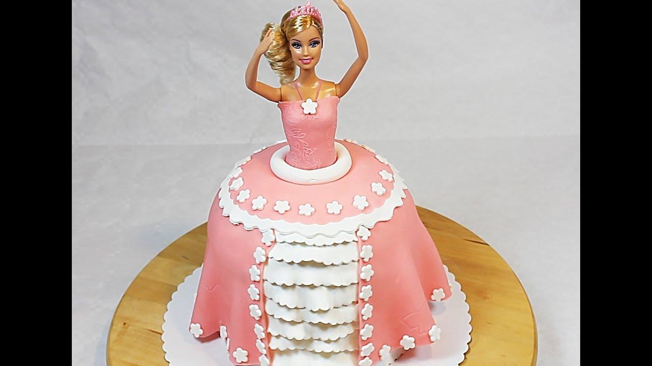 Как сделать торт с куклой барби самой фото 357