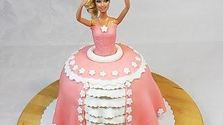 Торт Барби (!!!)(Как порадовать ребенка? Испеките торт БАРБИ! Это не так сложно, как кажется! Рецепт и пошаговые фотографии..., 2015-05-17T21:17:17.000Z)