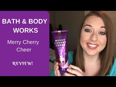 NEW! Bath And Body Works Merry Cherry Cheer REVIEW