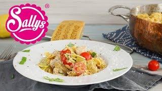 Zucchini-Lachs-Nudeln / 15 Minuten Rezept