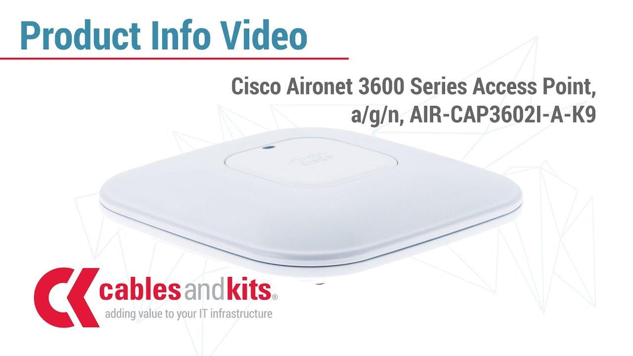 Cisco Aironet 3602I Access Point 5GHz 450Mbps - AIR-CAP3602I-A-K9