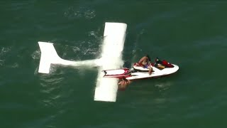 Pilot rescued from plane crash