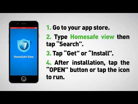 Video tutorial on setting up remote access using the HomeSafe View