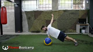 Medicine ball body weight complex fitness bootcamp