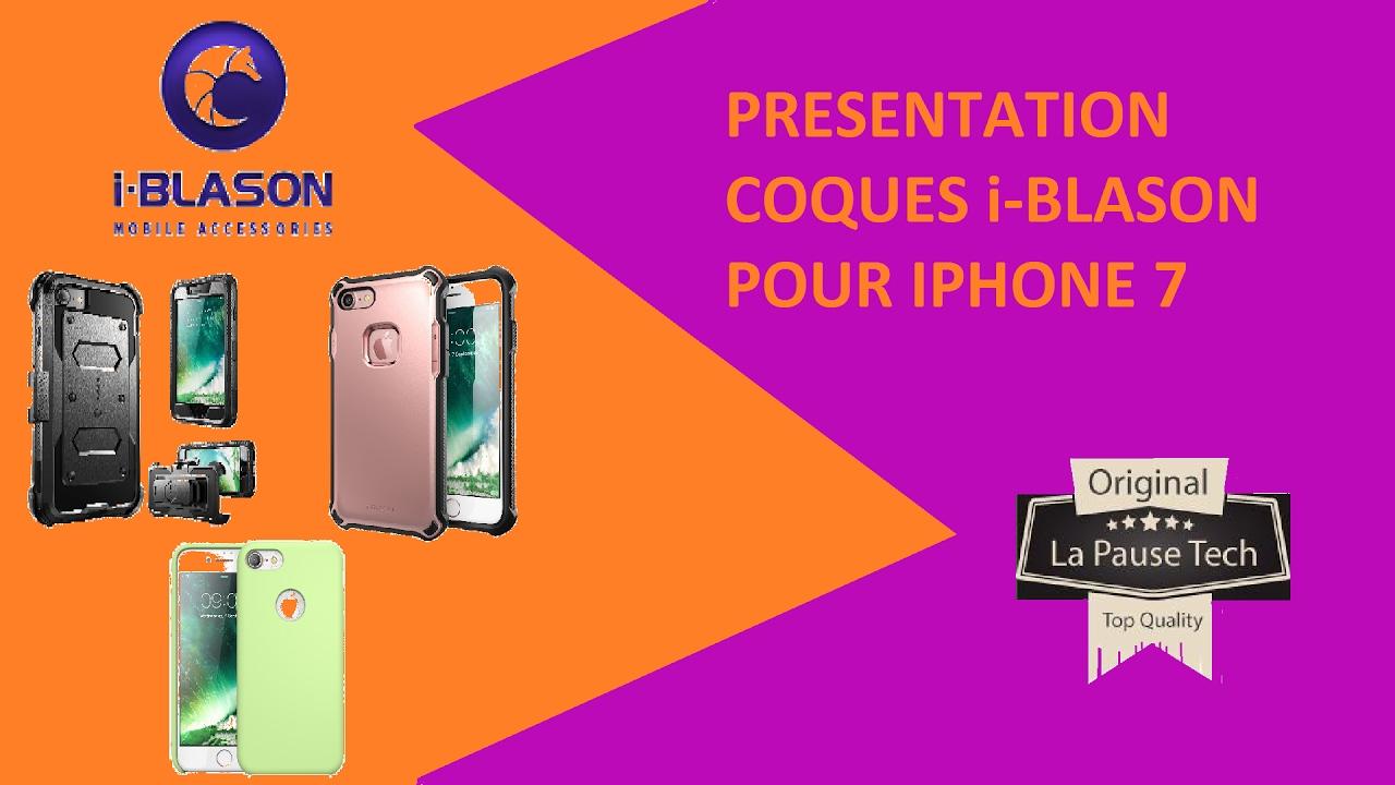 Présentation COQUES i-BLASON pour iPhone 7