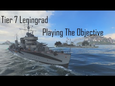 World Of Warships Tier 7 Leningrad Playing The Objective