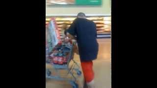 Best Moonwalk with Shopping Cart in Walmart!
