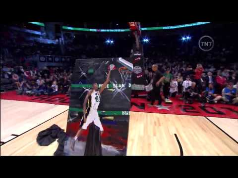 Jeremy Evans Left Handed Windmill over Painting of Himself (2013 NBA Dunk Contest)