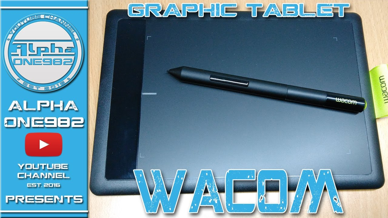 Wacom Bamboo Graphic Tablet One By Wacom Unboxing Youtube