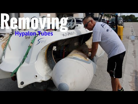 Removing inflatable boat tubes (to Ship)