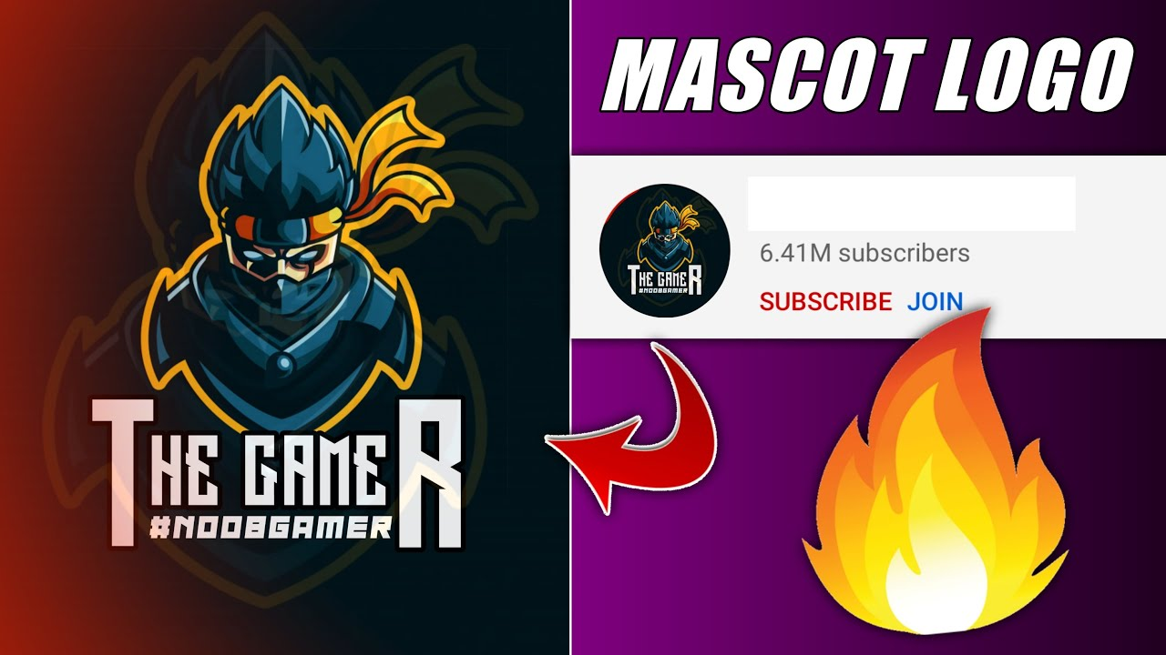 ?How to Make Gaming Channel Logo in Android | How to make mascot logo for gaming channel