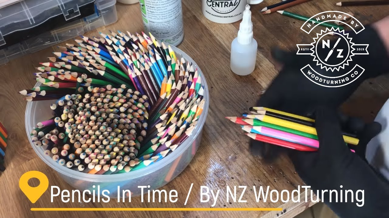 Making - a Pencil hourglass timer from pencils and resin