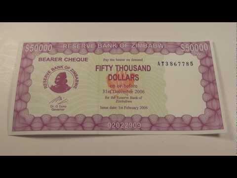 2006 $50,000 Bearer Cheque from Zimbabwe