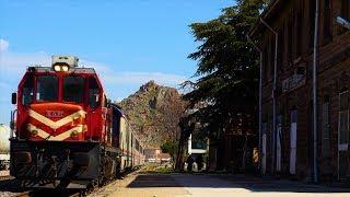 TCDD DE 24000 Pamukkale ekspresi ve DE 33000 yük treni Afyon Şehir İstasyonu