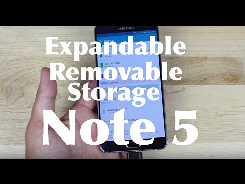 Galaxy Note 5 Expandable Removable Storage